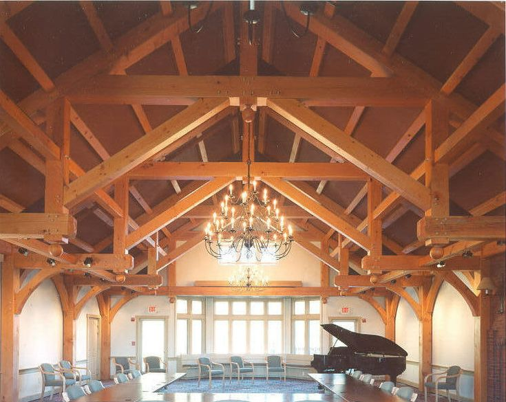 Modified Hammer Beam Truss Design Timber Framing Roof Structure Timber Frame Homes Gable