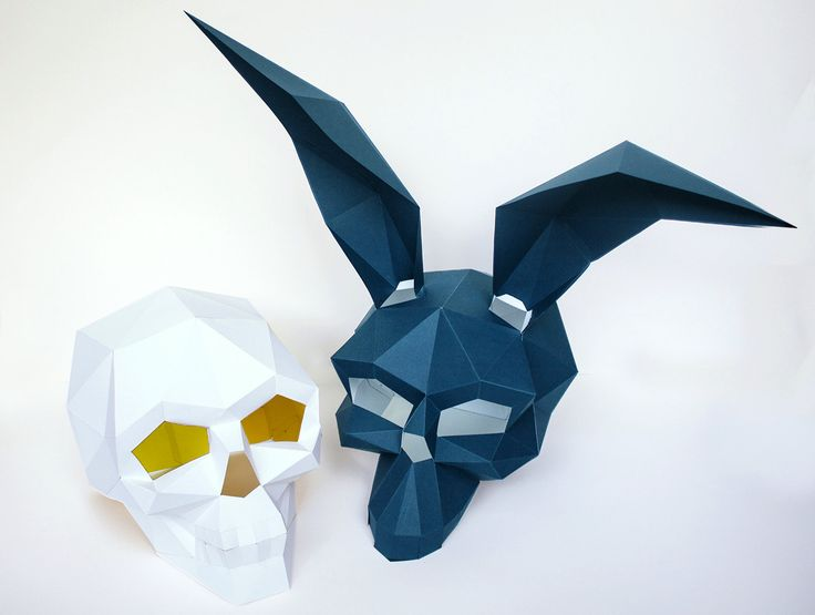 Skull and Donnie Darko Mask for Halloween DIY Mask Instant Printable  Pdf Templates 3D Pattern (13.00 USD) by AwesomePatterns