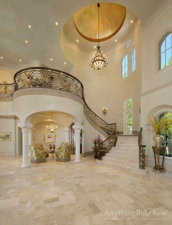 Estate Grand Entry   Diamond Plaster With Gilded Domes