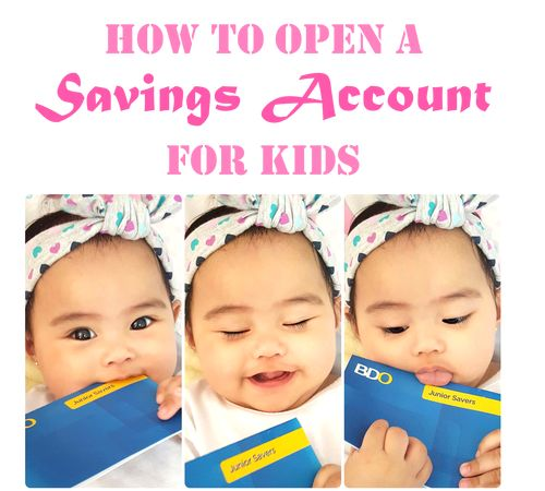 How to open a savings account for babies and kids