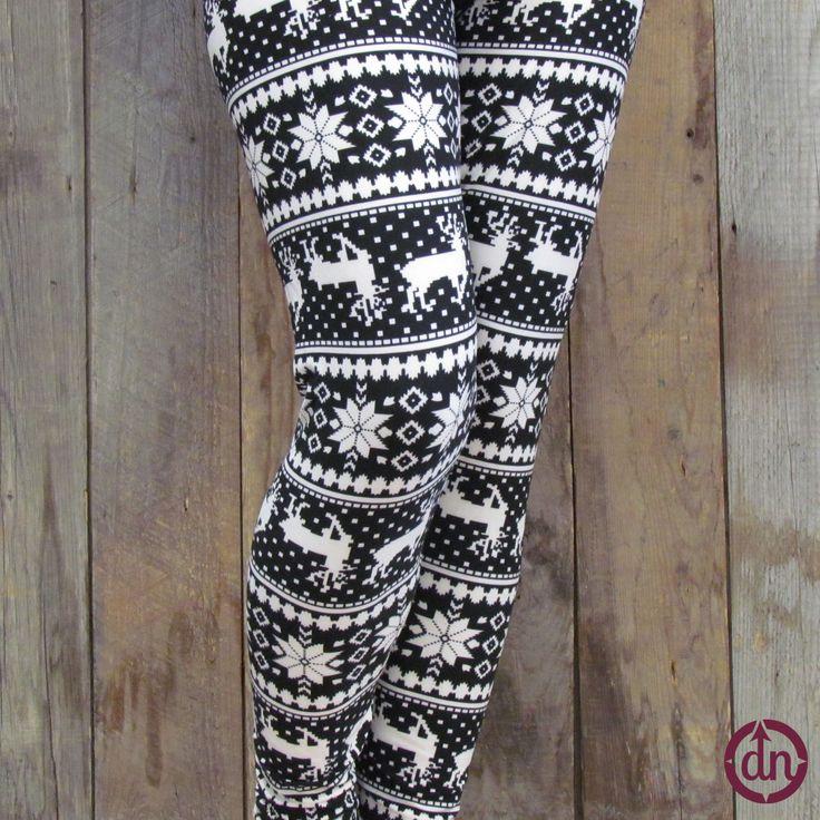 Snowy Reindeer Leggings