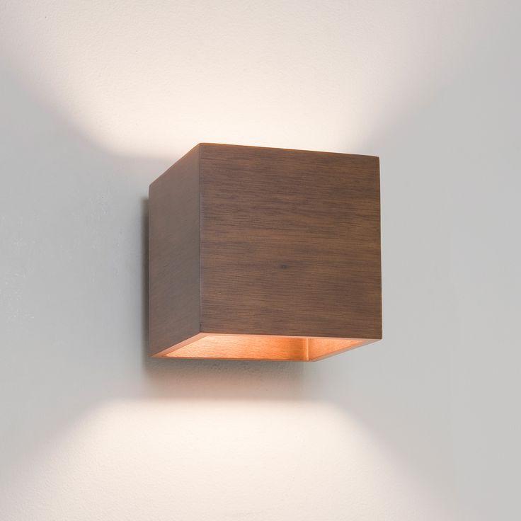 CREMONA lampada da parete in legno noce