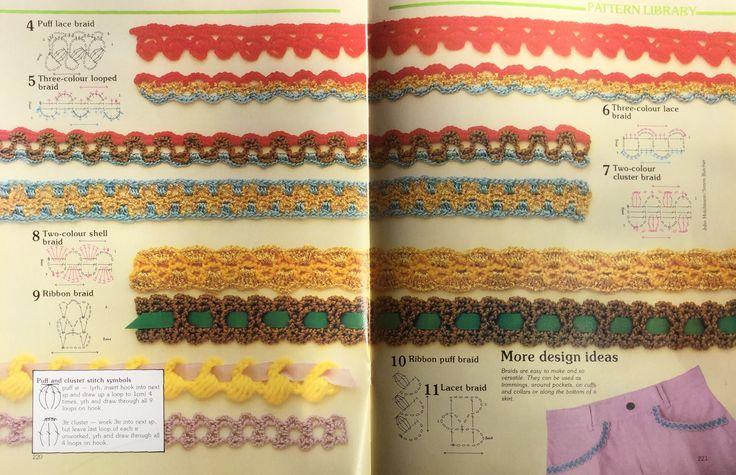 Crochet braids.  Crochet stitch library.  Busy Needles. Part 8.
