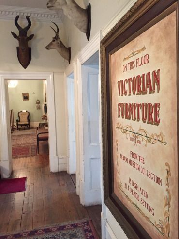 A view from the hallway of the third floor of the Observatory Museum. The Victorian style decor runs throughout the building. No word on if the mounted buck are also from the Victorian era. Photo: Heather Cameron