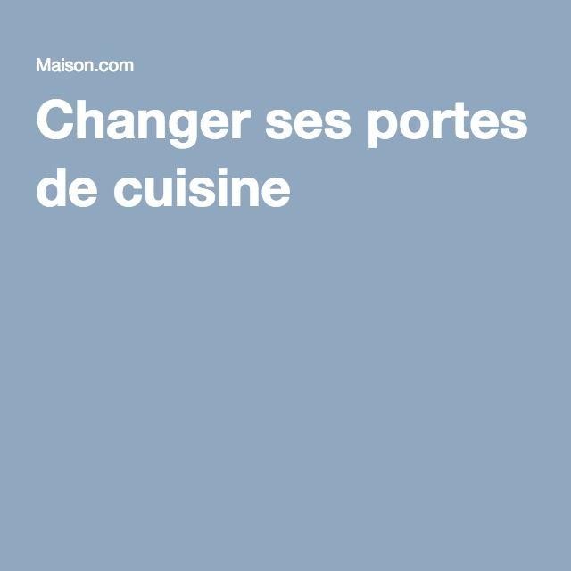 Changer ses portes de cuisine