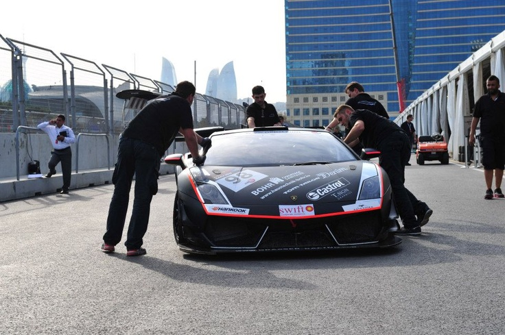 Daniel Bohr drove with the Lamborghini for Team Grasser in Baku 2012