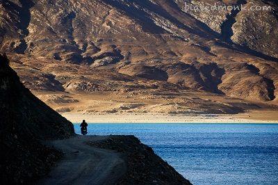 Biking across Leh Ladakh just like this!