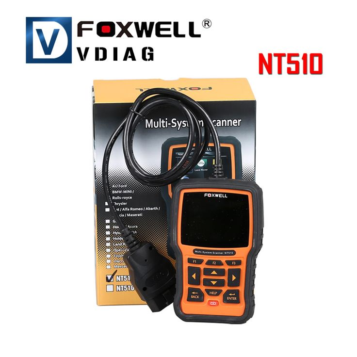 Foxwell NT510 Multi-System Scanner Support Multi-Languages ABS Airbag EPB Oil Service Full Diagnostic Scan Tool Free Shipping #Affiliate