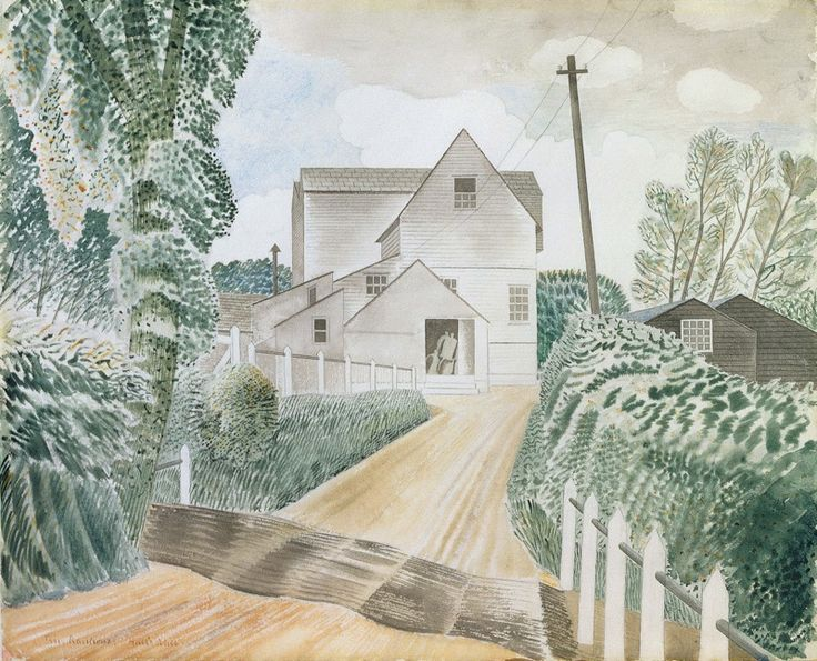 Eric Ravilious   1935 Hull's Mill, Sible Hedingham, Essex watercolour