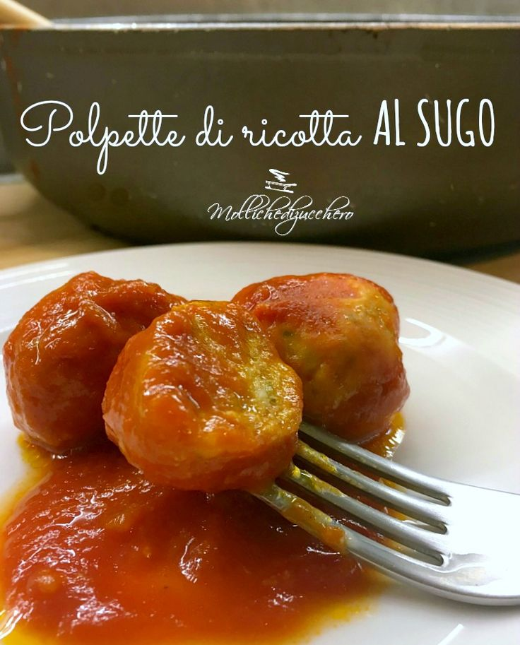 Le polpette di ricotta al sugo sono un secondo piatto ricco di gusto, sano e decisamente stuzzicante.Se non volete preparare il solito piatto di carne, se..