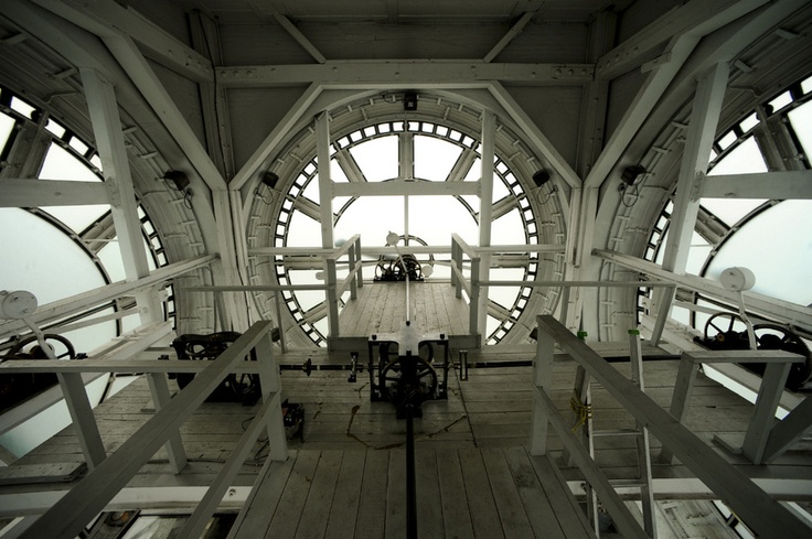 Inside Old City Hall's clock tower, a prominent feature in downtown Toronto.