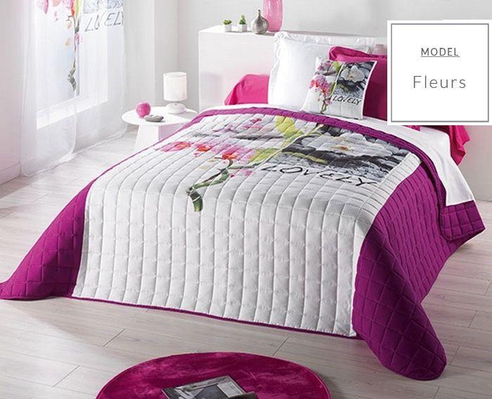 Luxusné francúzske prehozy na posteľ bielej farby
