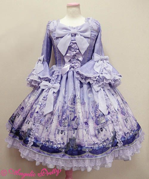 Angelic Pretty - Castle Mirage Princess Sleeve Dress