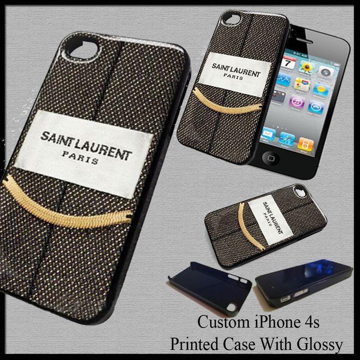 Design Custom Santa Laurent Paris Cover Case For Iphone 4S Nice Fit For Gift