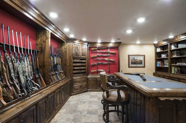 47 best images about gun trophy rooms on pinterest for Gun safe room ideas