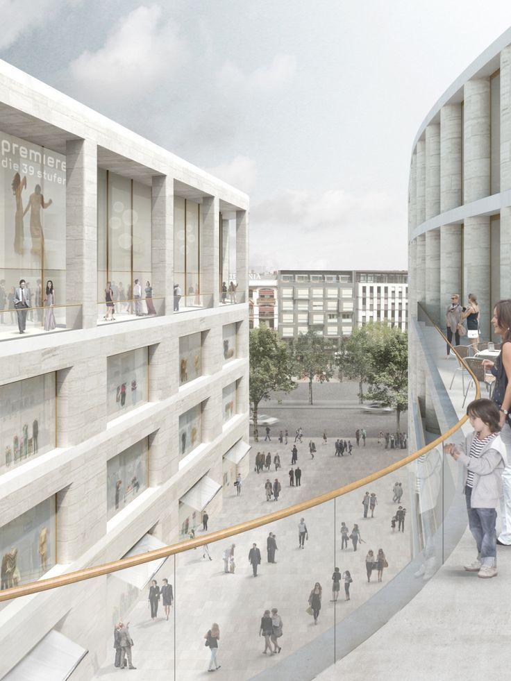 Wohnen statt Büros – Chipperfields neue Pläne für das Berliner Kudamm-Karree #Berliner #Büroa…