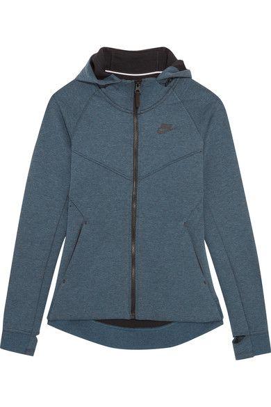 Nike - Tech Fleece Cotton-blend Jersey Hooded Top - Storm blue - x large