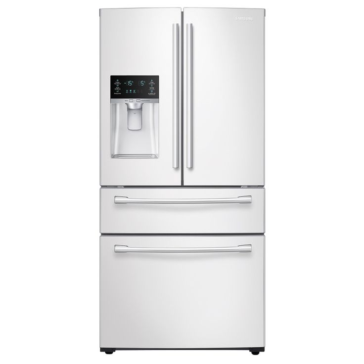 Samsung 28.15-cu ft 4-Door French Door Refrigerator with Single Ice Maker (White) ENERGY STAR