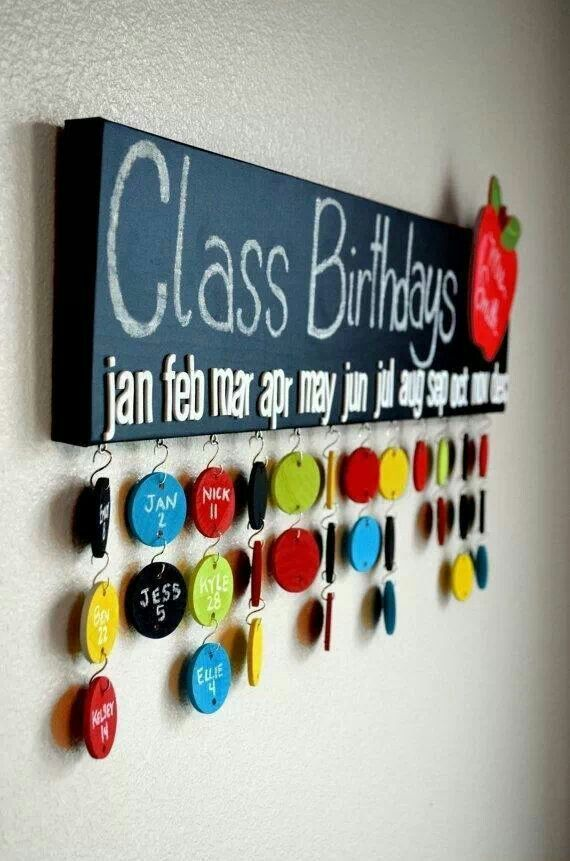 birthday displays for classrooms | Pinned by Vonnie Burgess