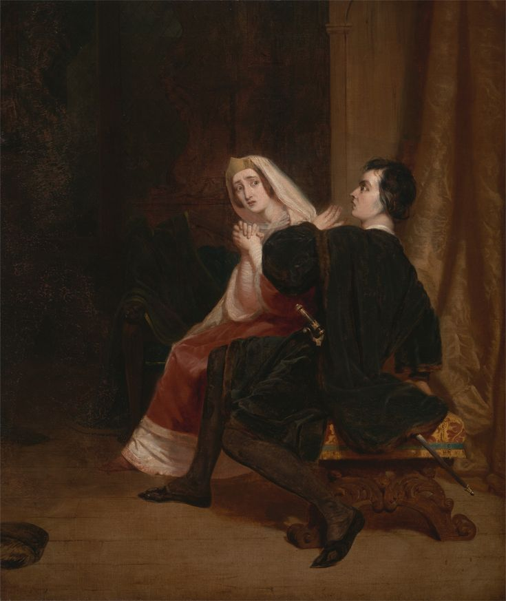 Hamlet and His Mother; The Closet Scene. Richard Dadd. 1846.