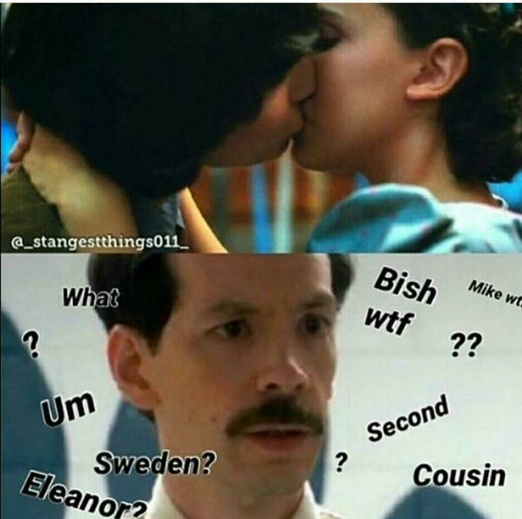 I'm crying//this is what would happen if mr. Clark saw mike and el kissing