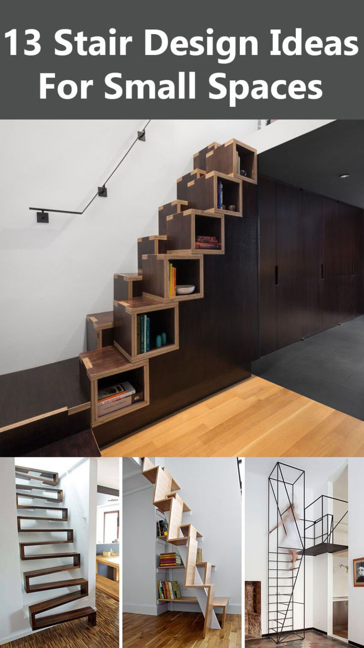 Best 25 small space stairs ideas on pinterest loft stairs ladder like stairs and attic - Staircase designs for small spaces set ...
