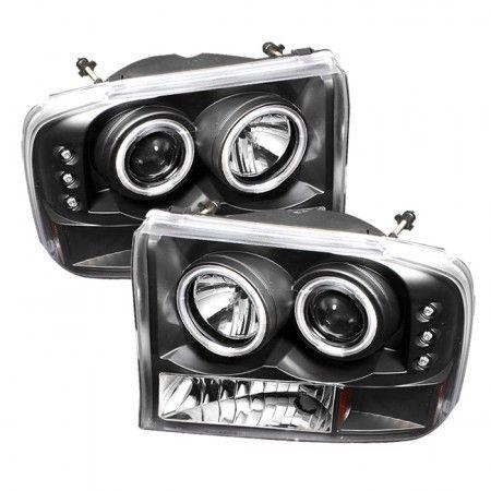 Spyder Auto 444-FF25099-1P-G2-CCFL-BK | 2000 Ford F-250 Super Duty Black CCFL Projector Headlights for SUV/Truck/Crossover