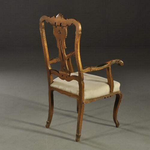 Antieke stoelen / Stel van 10 eetkamerstoelen ca. 1900 in Rococo stijl inclusief stoffering naar wens. (No992231)