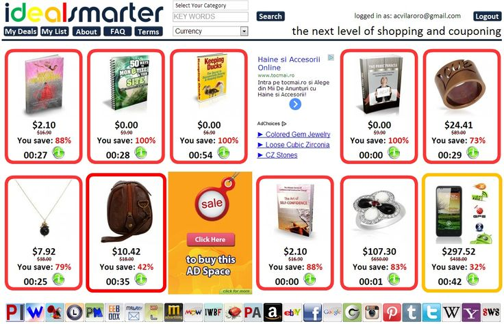 I love shopping on #IDS #iDealSmarter the price is always dropping by the minute! You decide the great deal you want. http://www.idealsmarter.com/