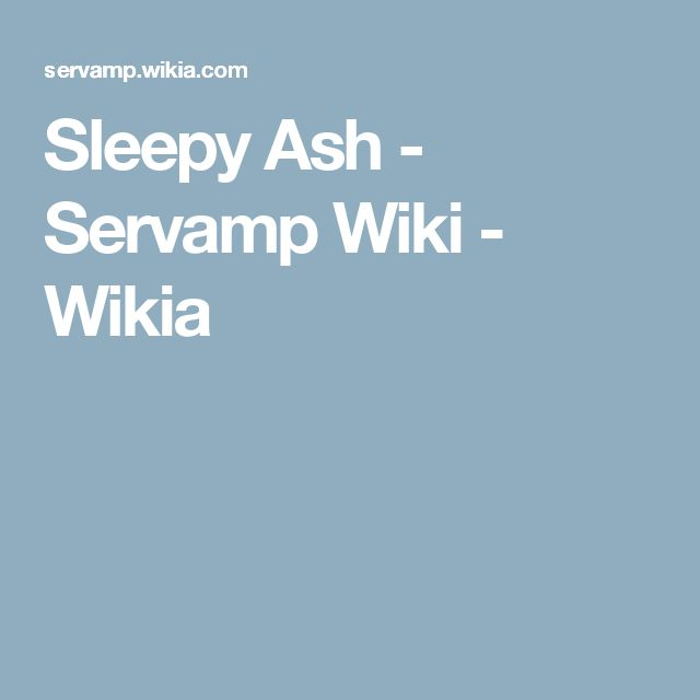 Sleepy Ash - Servamp Wiki - Wikia