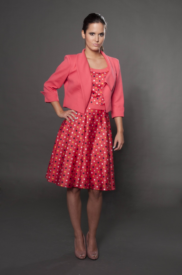 Pure silk dress with matching linen coaty