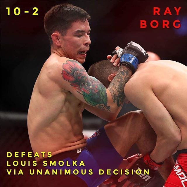 Ray Borg moves on up? What did you think of his performance??? : Mark J. Rebilas of USA TODAY #mma #champions #ufc #ufc207 #tmobilearena #infographic #fighting #grappling #boxing #judo #lasvegas #rayborg #nunesvsrousey