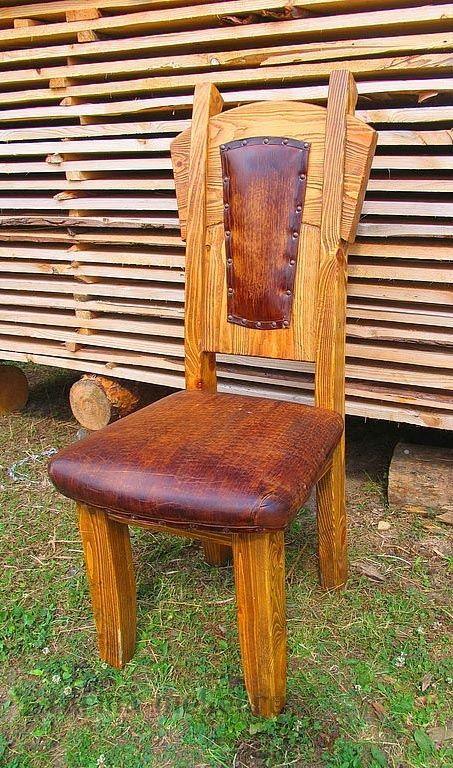 Деревянные стулья под старину, барные стулья из дерева в Москве