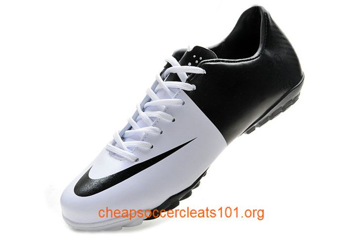 Black White Mercurial Victory III Astro Turf Boots Soccer Cleats