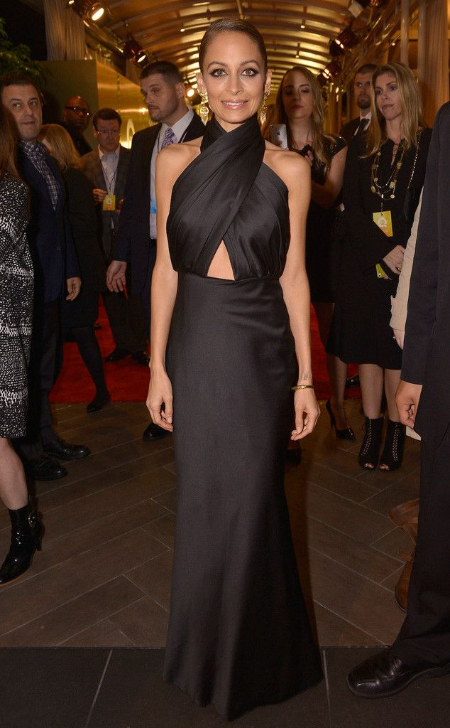 Nicole Richie Black Dress March 2017