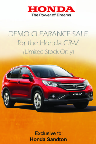 Drive away in a Honda CR-V 2.0 Comfort Auto Today. Claim now Localoffers.co.za