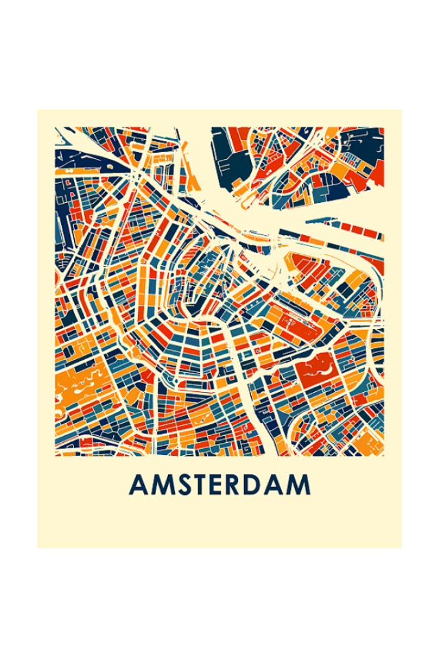 Genoeg 100 best Amsterdam Maps images on Pinterest | Illustrated maps  KF21