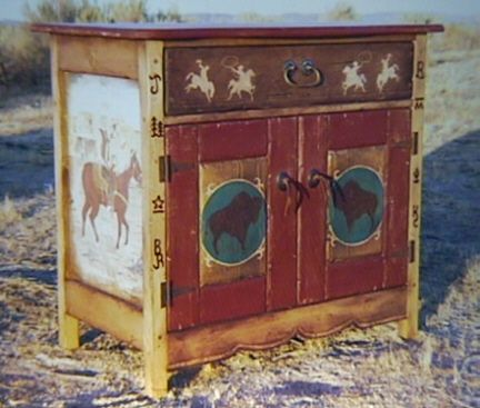 western hand painted furniture Google Search