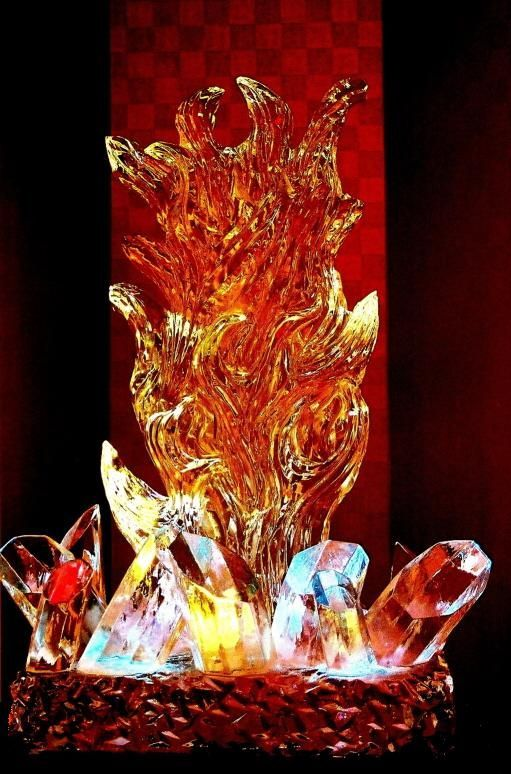 Original: Fire and Ice by Risachantag on DeviantArt |Drawing Fire And Ice Themed
