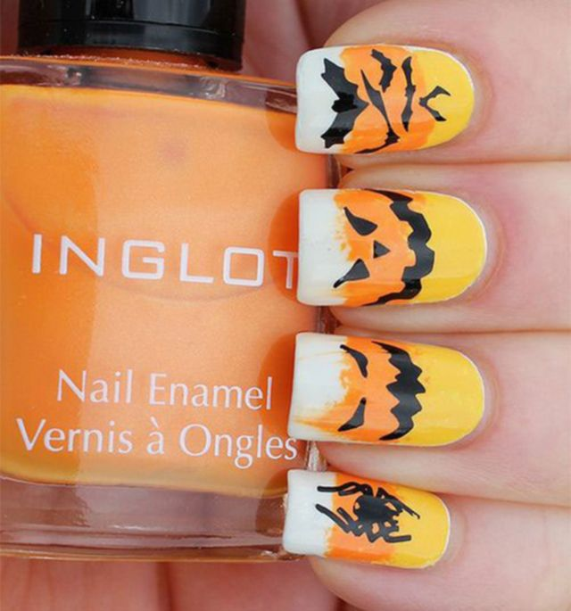 halloween nail art scary