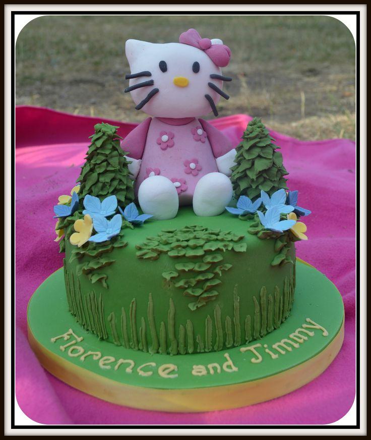 Hello Kitty! birthday cake. £65 by Cakes by Robin, Southfields, SW18 5LR