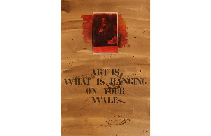 István B. Gellér Art is what is hanging on your wall  [1972]  Photo, print, paper 53 × 50 cm (20.9 × 19.7 inch) Estimate €900 - €1,300  http://lavacow.com/art-is-what-is-hanging-on-your-wall.html