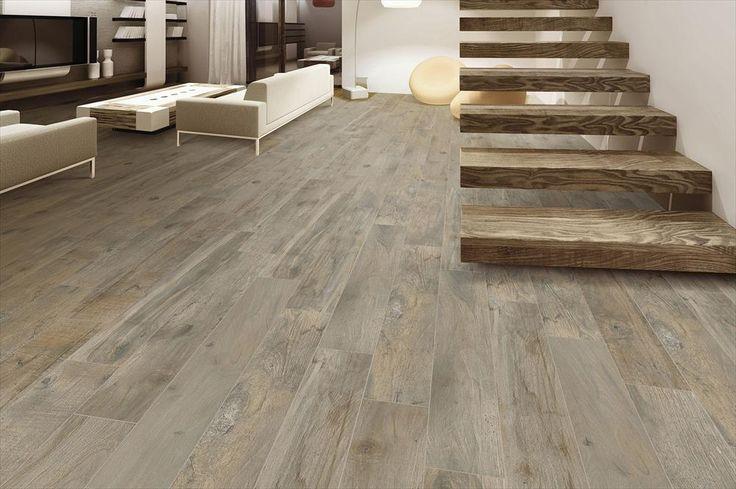 BuildDirect – Italian Porcelain Tile - Divino Wood – Honey - Living Room View