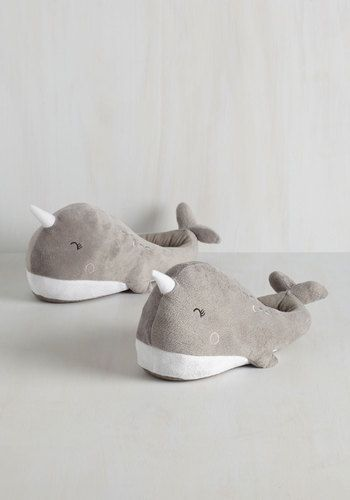 Sea-son to Snuggle USB Foot Warmers. Youre always in the mood for cuddling up, especially with these narwhal-shaped foot warmers! #gold #prom #modcloth