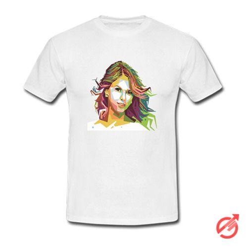 Taylor Swift Geometric Color Portrait Art T-Shirt