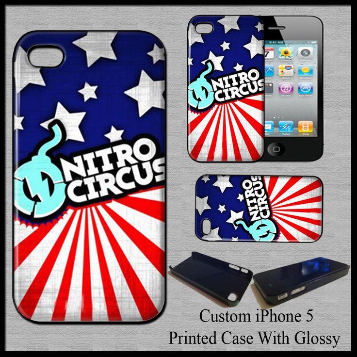 New Hard Case Cover For iPhone 5 Travis Pastrana Nitro Circus Logo Action Sport