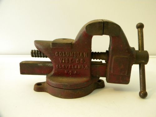 Details About Vintage Lucite Compact Bell Deluxe Hand Painted Bench Vise Vintage And Benches