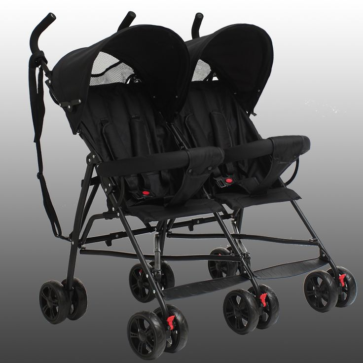 Lightweight Cheap Twin Baby Stroller, High Quality Prams and Pushchairs Double Seats Strollers, Newborn Infant Kids Twins Pram