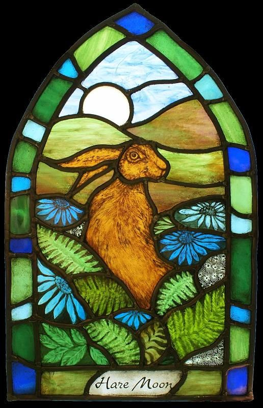 Hare Moon by Angie @ Hare Moon Stained Glass