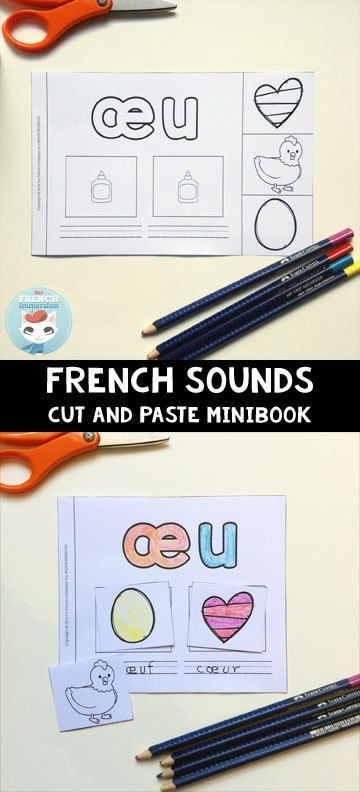 French Sounds Cut and Paste Minibook: a hands-on and engaging resource for kids to learn or review French sounds and their spellings. A great addition to your French phonics instruction!